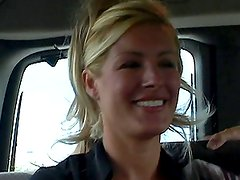 Blonde Rene was seduced and fucked in the truck