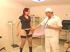 Doctor fucks his patient in gynecological examination chair
