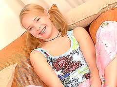 Loveliest & Cutest Blonde Teen With Pigtails In Hardcore Action.