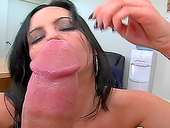 Busty brunette babe Krista gets fucked at the job interview