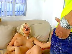 Juicy Staci Thorn gets fucked by a strong monster cock