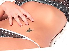 Gorgeous Chloe Jay has a sexy tattoo on her belly
