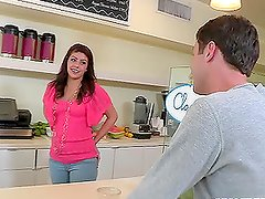 Take a look at this sex-hungry couple banging in the kitchen