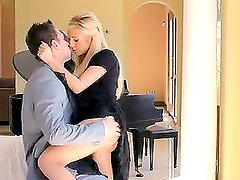 Horny housewife gets fucked by her husband in a new house
