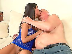 Old Guy Gets Lucky With Cute Teen
