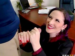 Milky white office babe screwed