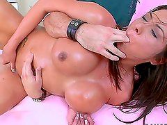 Brunette Candi Coxx tits are amazing during hardcore sex