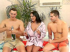 Jasmine Black Takes it Hard With Two Guys
