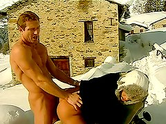 Outdoor Scene With The Hot Sylvia Sun Melts Even The Snow