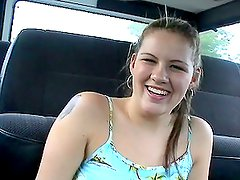 Blonde Teen Hardcore Fucking in Car With Blowjob