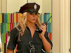 Officer Ivy Rides A Hard Cock Until Her Face Gets Covered By Hot Cum