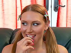 Hot Teen Katie Summers Receives A Lesson in Big Cock