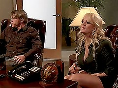 A Hardcore Scene With The Gorgeous Blonde Stormy Daniels