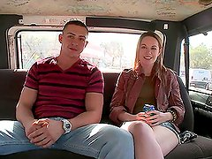 Hot Blonde's Left Breathless Inside The Bang Bus