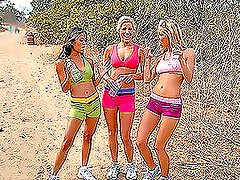 Three Babes Out For A Run & Some Fun