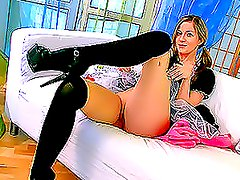 Teen Hottie In High Heels Teases With Her Pink Pussy