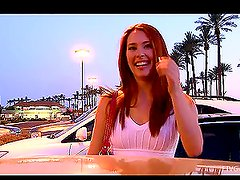 Hot redhead chick Melody really enjoys being naughty