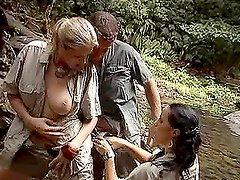 Anal Threesome in a Jungle Stream with Jane Darling and Laura Lion