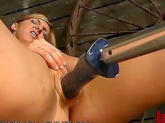 Fucking Machine Action With A Very Hot Blonde