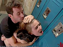 Teen Chick Gets Tied Up in the Locker Room