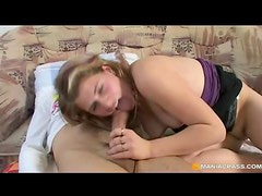 Spunky blonde teen spreads wide for old gentleman