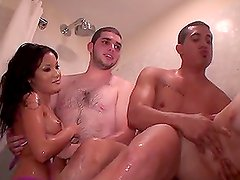 Wet After Party Sex in the Shower with Horny Slutty Babes
