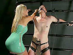Licking a Dominating Blonde Babe's Ass in Femdom Vid