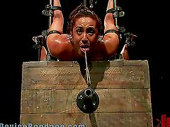 Brunette Getting Tortured in Many Ways in Freaky BDSM Clip
