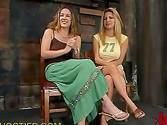 Two Sexy Blondes Tied in the Dungeon