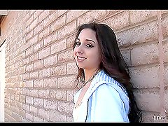 Geeky Teen Is Walking Around The Place Dropping Her Panties