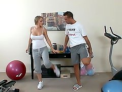 Blonde Babe Abby Road Gets Her Wet Pussy Fucked by Her Fitness Trainer