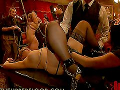 Massive Bondage Scene With Hot Babes And Their Wet Pussies