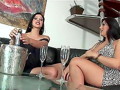 Lesbian Sex Turns into Anal Threesome with Gina Jolie and Regina Rizzi