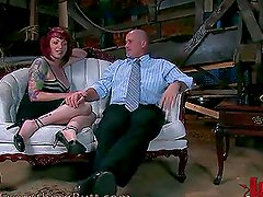 Sexy Redhead Gets Tied Up And Anally Toyed