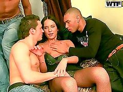 Brunette in Sexy Lingerie Will Get Gangbanged