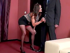 Horny Boss Valentina Cruz in High Heels and Stockings Fucking in the Office