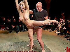 Blonde Babe Gets Teased and Fucked on Cage