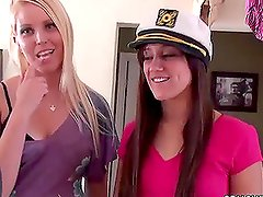 Blonde Vanessa Cage Joins Brunette Candace Cage in Threesome