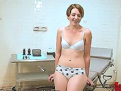 Horny Brunette Will Get Into the Doctor's Office