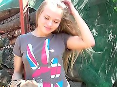 Sexy teen babe loves riding horses and getting banged