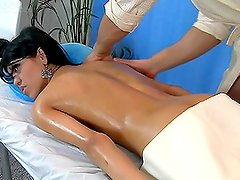 Naughty Brunette Wants an Oily Massage for Some Slippery Sex