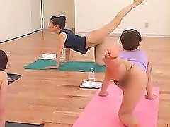 Naked Yoga Class with Hot Asian Babes
