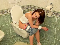 Euro Teen Brunette If Fucked In The Bathroom