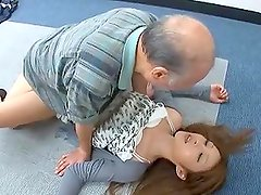 Asian Teen Has Her Tight Pussy Fucked By An Old Man