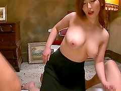 Sweet Asian Babe With Big Natural Tits Loves Threesomes