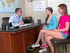 Nubile Teens Sharing The Teacher's Thick Cock