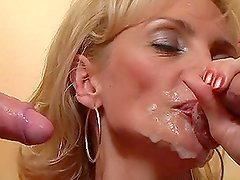 Blonde Milf Has Her Holes Stuffed In A Hot Threesome