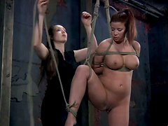 Busty redhead hoe Sarah Blake wants to be a BDSM slave girl