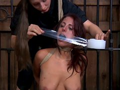 Submissive bitch Lavender Rayne is tormented in a spicy BDSM video