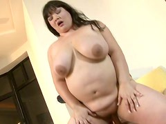 Kelly Shibari gets the cock of her dream between her greasy pussy lips